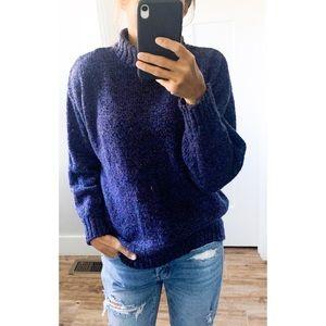 vintage✨ DVF purple fleck wool mockneck sweater